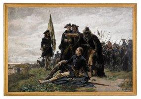 Густав Седерстрем (1845-933), «Карл XII и Мазепа после Полтавы на берегу Днепра».